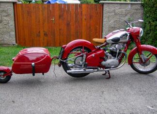 Przyczepka motocyklowa PAV motocykl zabytkowy retro vintage