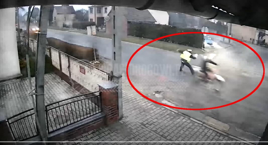 motocyklista potrącił policjanta ucieczka przed policją nie zatrzymanie się do kontroli