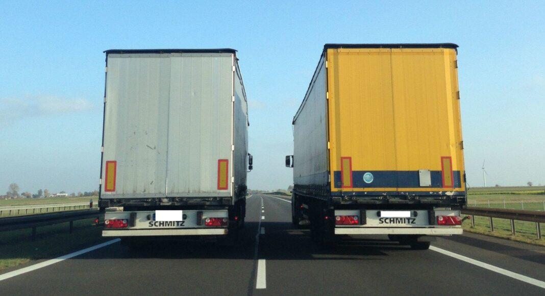 tiry wyprzedzanie na autostradzie zakaz wyprzedzania cieżarówek