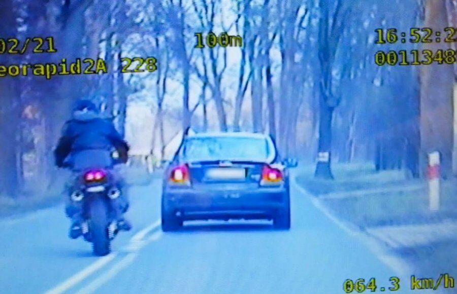 pościg za motocyklistą policjantka zielona góra grupa speed
