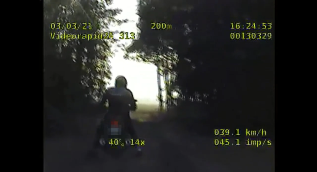 pościg policja motocyklista brak prawa jazdy