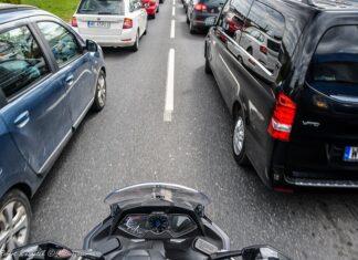 jazda w korku lwg podziękowania dla kierowcy
