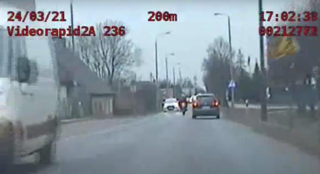 ucieczka przed policja motocyklista żnin kontrola