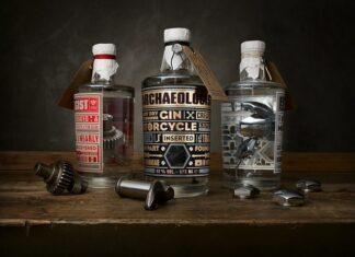 gin dla motocyklistów z częściami od motocykli