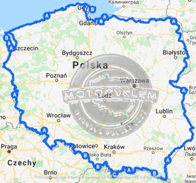 Motocyklem dookoła Polski: zakręt śmierci, otwarty kufer i niebezpieczna przygoda z dzikim zwierzęciem