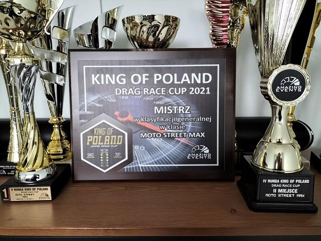Adam Frąckowiak na Hayabusie mistrzem sezonu 2021 King of Poland w wyścigach równoległych!